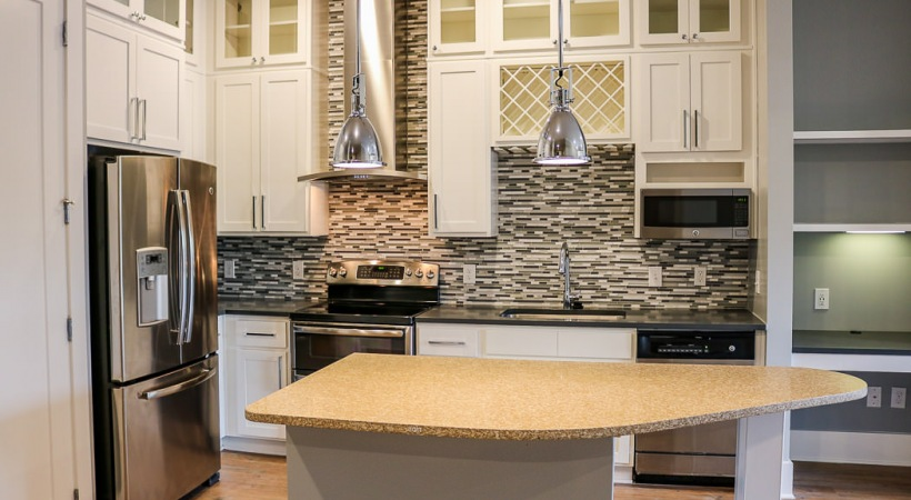Executive Apartments include double ovens and hood range!