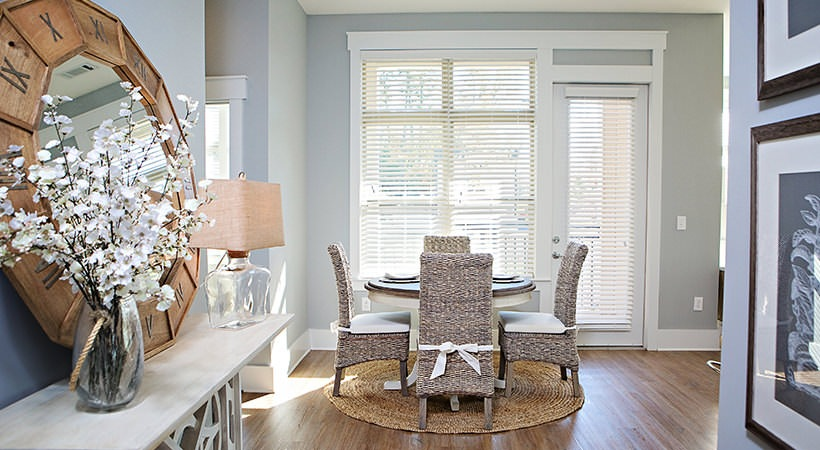 Apartments at Palladian Place- Light Filled Dining Areas